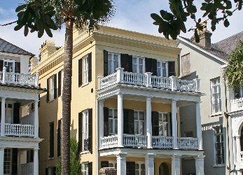 mansions south of broad in historic downtown Charleston
