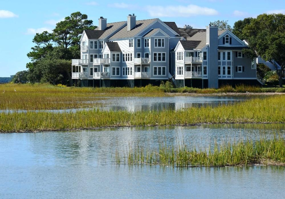 Charleston SC Lowcountry waterfront home with marsh land views